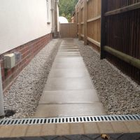 Paving Slabs and Gravel