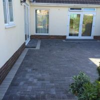 Grey Brick Patio